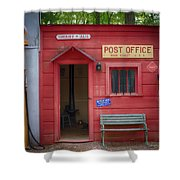 Small Town Post Office Shower Curtain