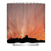 Small Town Sunset Shower Curtain