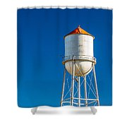Small Town Water Tower Shower Curtain