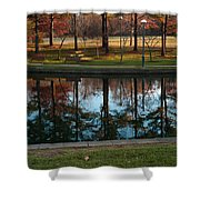 Small Urban Park Shower Curtain