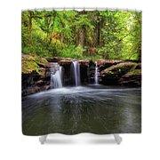 Small Waterfall At Rock Creek Shower Curtain