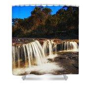 Small Waterfall In Australian Landscape  Shower Curtain