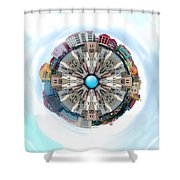 Small World In The Clouds Shower Curtain