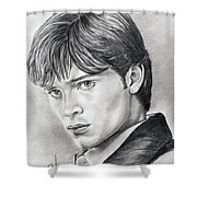 Smallville  Tom Welling Shower Curtain