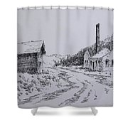Smelter Ruins Glendale Ghost Town Montana Shower Curtain