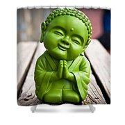 Smiley Buddha Shower Curtain