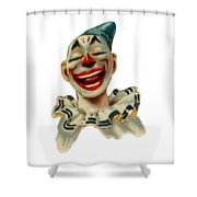 Smiley Shower Curtain by ReInVintaged