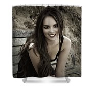 Smiling Beauty Shower Curtain