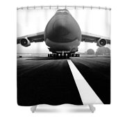 Smiling C Five Galaxy Shower Curtain