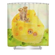They Are All Smiling Shower Curtain