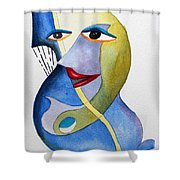 Smiling Girl Shower Curtain