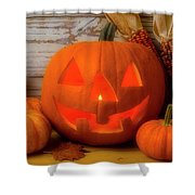 Smiling Jack O Latern Shower Curtain