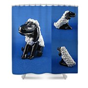 Smiling Lamb Shower Curtain