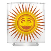 Smiling Sundial Shower Curtain