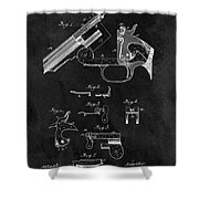 Smith And Wesson Model 3 Patent Shower Curtain