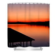 Smith Mountain Sunset Shower Curtain