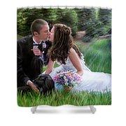 Smith Wedding Portrait Shower Curtain