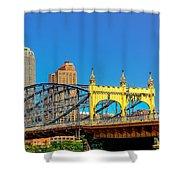 Smithfield Street Bridge Shower Curtain