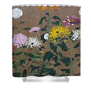 Smith's Giant Chrysanthemums Shower Curtain