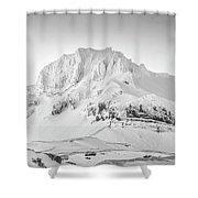 Smjorhnukur Cloaked In White Shower Curtain