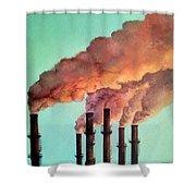 Smog Industrial II Shower Curtain