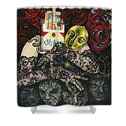 Smoke And Lace Shower Curtain