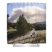 Smoke From Ventura Wildfire, View Shower Curtain