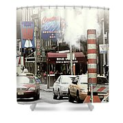Smoke Gets In Your Eyes Shower Curtain