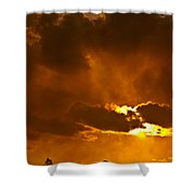 Smoke On The Horizon Shower Curtain