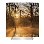 Smoke On The Water Shower Curtain