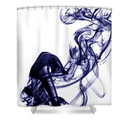Smoke Photography - Blue Shower Curtain