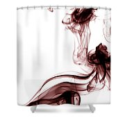 Smoke Photography - Red Shower Curtain
