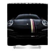 Black Porsche 911 Shower Curtain