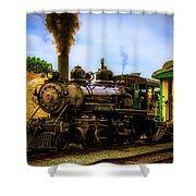 Smoke Stack Steam Train Shower Curtain