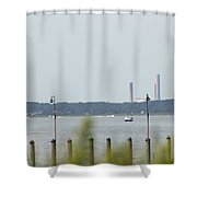 Smoke Stacks In The Background Shower Curtain