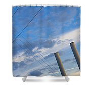 Smoke Stax Shower Curtain