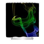smoke XXIV Shower Curtain