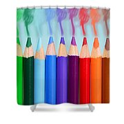 Smoked Colors Shower Curtain