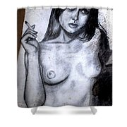 Smoker Shower Curtain