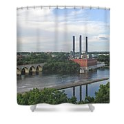 Smokestacks On The Mississippi Shower Curtain