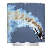 Smokey Biplane Shower Curtain