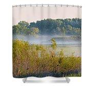 Smokey Marshland Shower Curtain