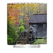 Smokey Mountain Grist Mill Shower Curtain