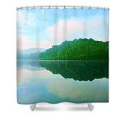 Smokey Mountain Lake Shower Curtain