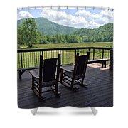 Smokey Mountain Serenity Shower Curtain