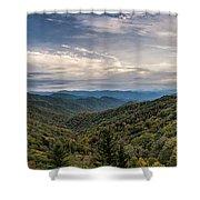 Smokey Mountain Sky Shower Curtain