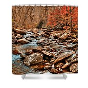 Smokey Mountain Streams And Fall Foilage 2 Shower Curtain