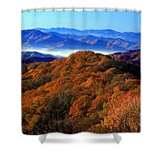 Smokey Mountain Sunrise Shower Curtain