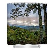 Smokey Mountain Sunset Shower Curtain