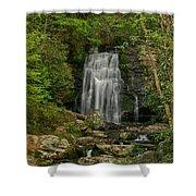 Smokey Mountain Waterfall Shower Curtain
